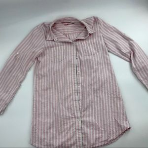 Victoria's Secret Signature Stripe Night Shirt S